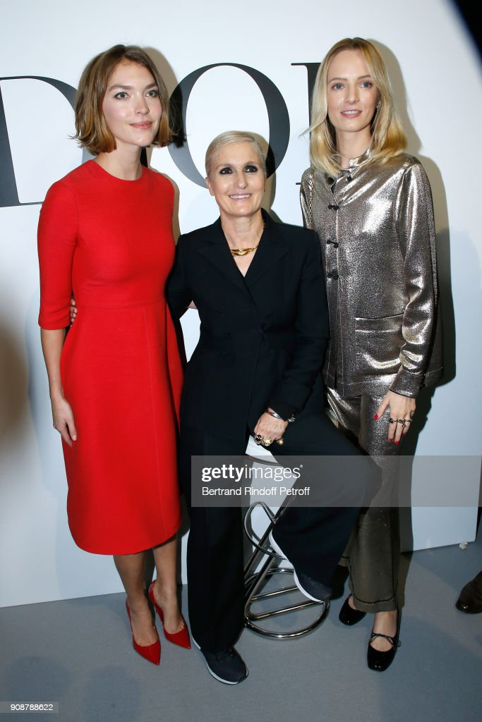 Arizona News, Stylist Maria Grazia Chiuri and Daria Strokous pose after the Christian Dior Haute Couture Spring Summer 2018 show as part of Paris Fashion Week on January 22, 2018 in Paris, France.