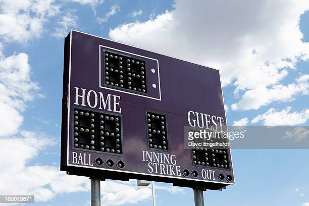 usa, arizona, phoenix, low angle view of scoreboard - scoring stock pictures, royalty-free photos & images