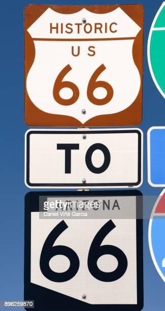 USA, Arizona, Route 66 road sign