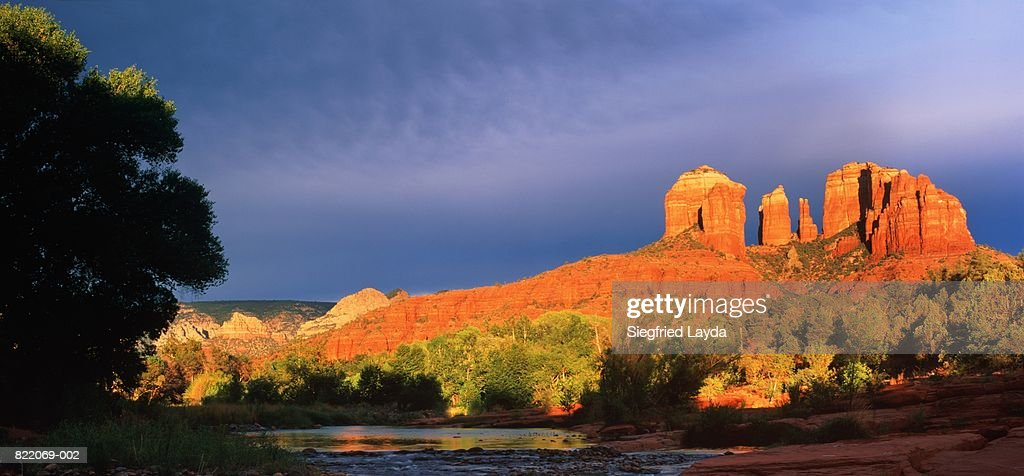 USA, Arizona, Sedona, Red Rock River Crossing : Stock Photo