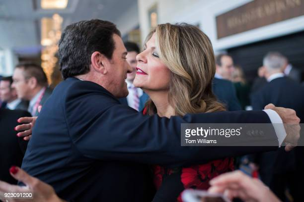Arizona Senate candidate Kelli Ward greets Eric Bolling during the Conservative Political Action Conference at the Gaylord National Resort in Oxon...