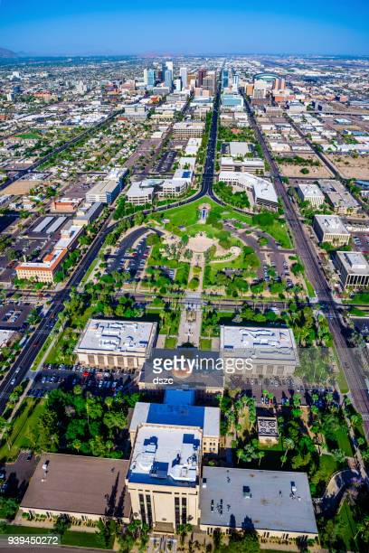 arizona state capitol building complex - phoenix arizona stock photos and pictures