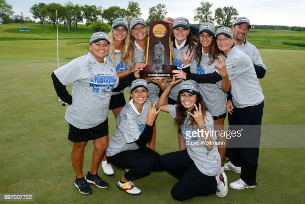 Arizona State celebrates their victory during the Division I Women's Golf Team Championship held at Rich Harvest Farms on May 24 2017 in Sugar Grove...