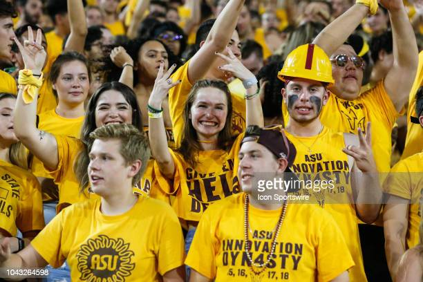 Arizona State fans celebrate during the college football game between the Oregon State Beavers and the Arizona State Sun Devils on September 29 2018...