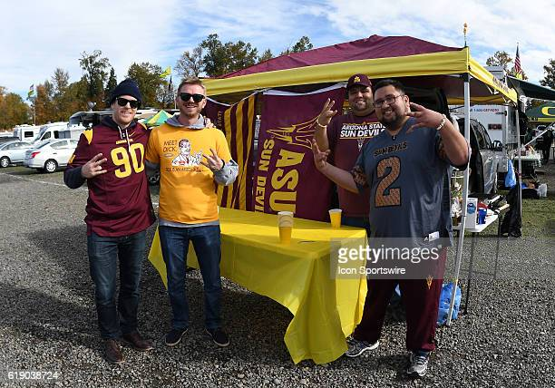Arizona State fans tailgate prior to the start of the game during a PAC12 NCAA football game between the Oregon Ducks and the Arizona State Sun...