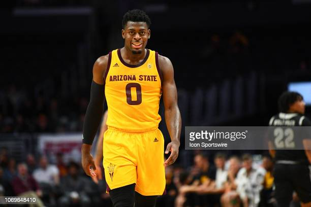 Arizona State guard Luguentz Dort looks on during an college basketball game between the Arizona State Sun Devils and the Nevada Wolf Pack in the Air...