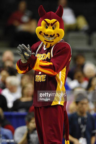 Arizona State mascot Sparky the Sun Devil at the State Farm Pacfic-10 Conference women's basketball championship against Stanford at the HP Pavilion...