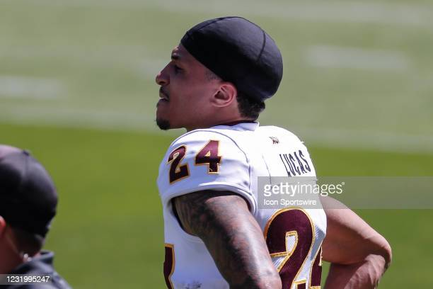 Arizona State Sun Devils defensive back Chase Lucas looks on during the college football spring scrimmage of the Arizona State Sun Devils on March...
