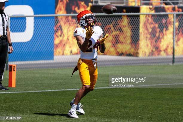 Arizona State Sun Devils defensive back Chase Lucas receives a kickoff during the college football spring scrimmage of the Arizona State Sun Devils...