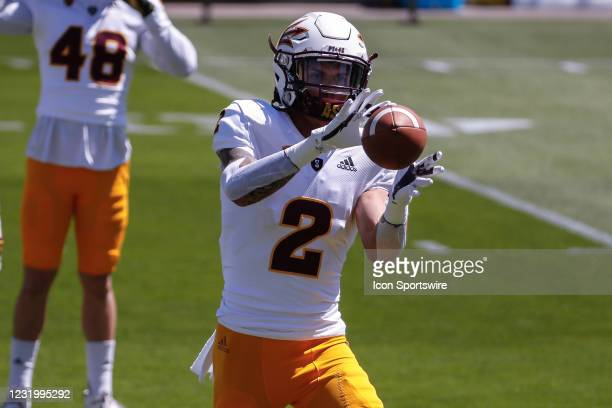 Arizona State Sun Devils defensive back DeAndre Pierce catches a pass during the college football spring scrimmage of the Arizona State Sun Devils on...