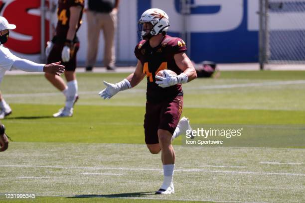 Arizona State Sun Devils fullback Case Hatch runs the ball during the college football spring scrimmage of the Arizona State Sun Devils on March 28,...