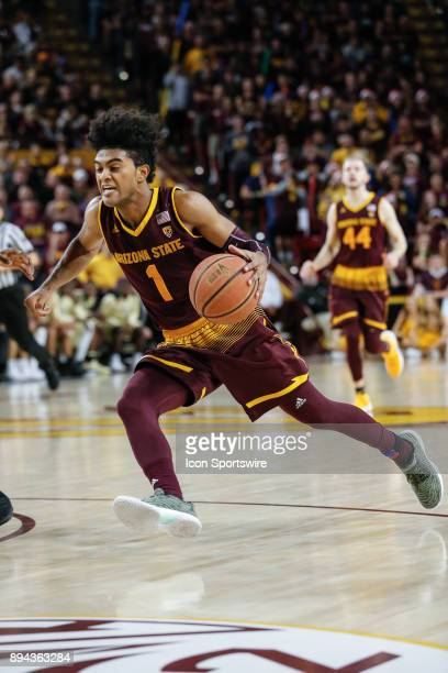 Arizona State Sun Devils guard Remy Martin drives to the basket during the college basketball game between the Vanderbilt Commodores and the Arizona...