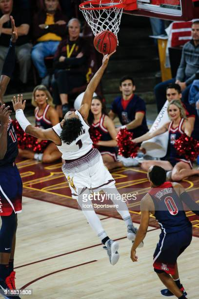 Arizona State Sun Devils guard Remy Martin goes up for a lay up during the college basketball game between the Arizona Wildcats and the Arizona State...
