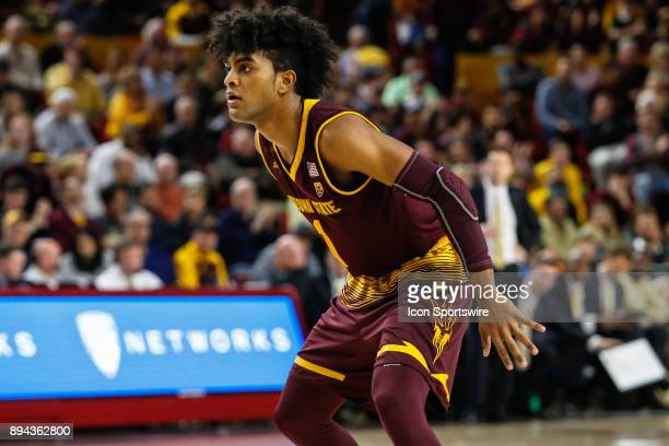 Arizona State Sun Devils guard Remy Martin sets up on defense during the college basketball game between the Vanderbilt Commodores and the Arizona...