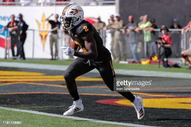 Arizona State Sun Devils wide receiver Brandon Aiyuk runs back a kickoff during the college football game between the USC Trojans and the Arizona...