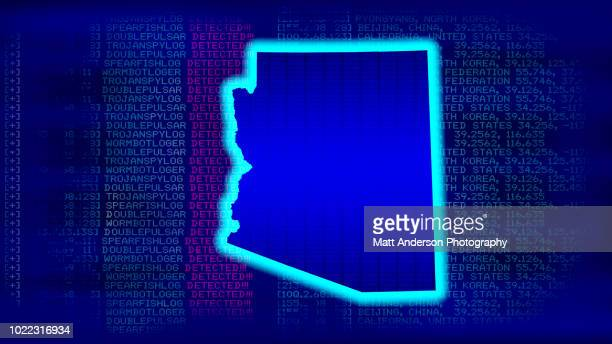 arizona - state with malicious code - electoral college stock pictures, royalty-free photos & images