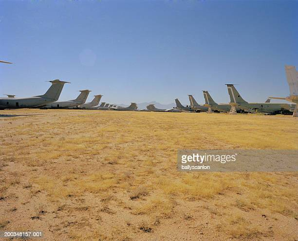 usa, arizona, tucson, decommissioned military aircraft - airfield stock pictures, royalty-free photos & images