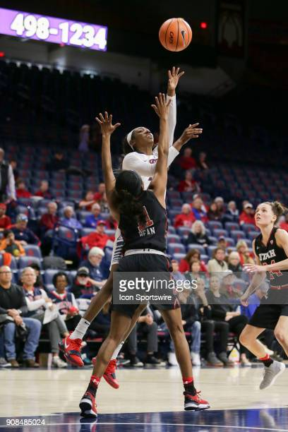 Arizona Wildcats forward Destiny Graham shoots the ball during a college women's basketball game between Utah Utes and Arizona Wildcats on January 21...