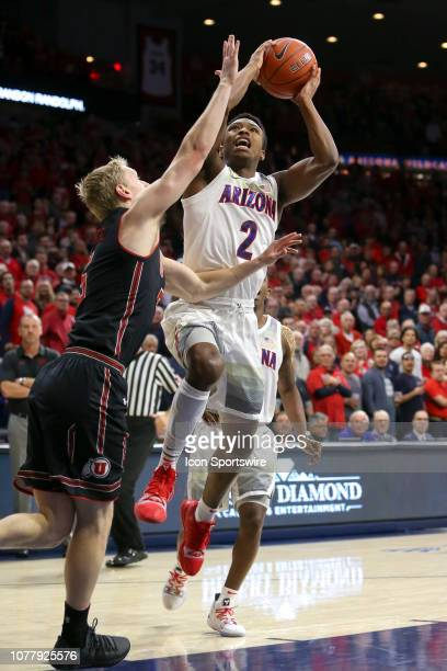 Arizona Wildcats guard Brandon Williams shoots the ball during the a college basketball game between the Utah Utes and the Arizona Wildcats on...