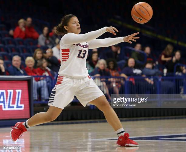 Arizona Wildcats guard Marlee Kyles passes the ball during a college women's basketball game between Utah Utes and Arizona Wildcats on January 21 at...