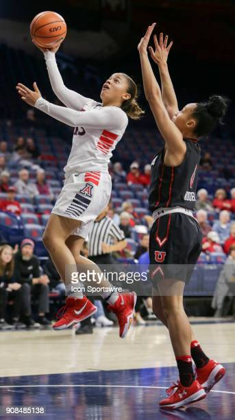 Arizona Wildcats guard Marlee Kyles shoots the ball during a college women's basketball game between Utah Utes and Arizona Wildcats on January 21 at...