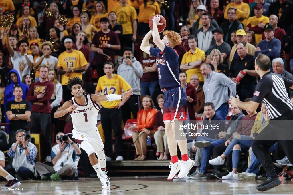 COLLEGE BASKETBALL: JAN 25 Arizona at Arizona State : News Photo