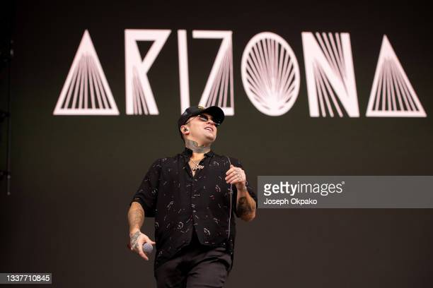 Arizona Zervas performs on Main Stage West during Reading Festival 2021 at Richfield Avenue on August 29, 2021 in Reading, England.