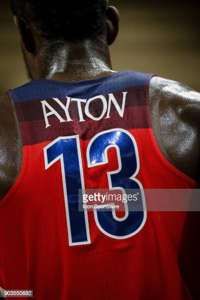 Arizona's DeAndre Ayton during a break in the action during their regular season PAC12 basketball game against Colorado on January 06 2018 at the...