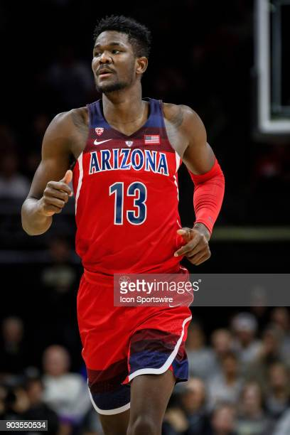 Arizona's DeAndre Ayton runs down court during their regular season PAC12 basketball game against Colorado on January 06 2018 at the Coors Events...