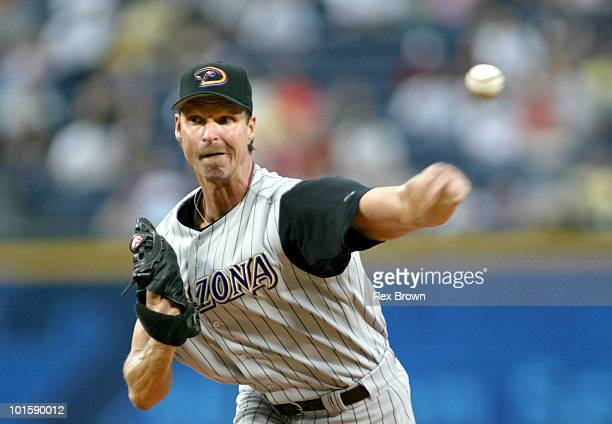 Arizona's Randy Johnson becomes the oldest pitcher to throw a perfect game at 40 as he completed the task against the Braves May 18 at Turner Field,...