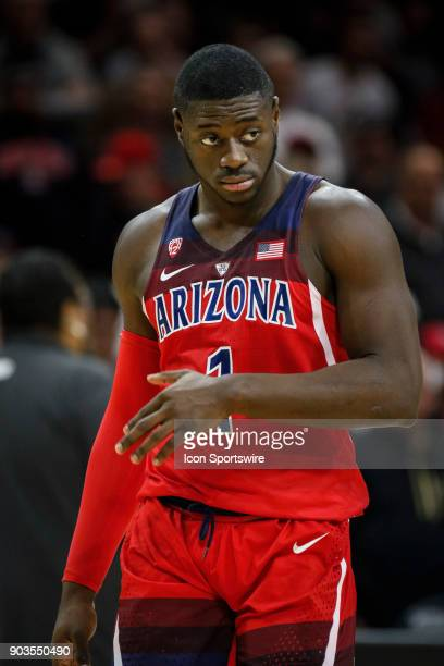 Arizona's Rawle Alkins reacts to a call against a teammate during their regular season PAC12 basketball game against Colorado on January 06 2018 at...