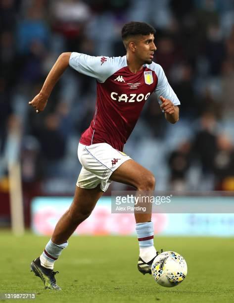 Arjan Raikhy of Aston Villa during the FA Youth Cup Final between Aston Villa U18 and Liverpool U18 at Villa Park on May 24, 2021 in Birmingham,...