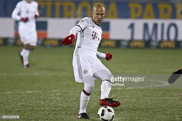 Arjen Robben 10 during the German first division Bundesliga football match SC Freiburg vs FC Bayern Munich in Freiburg Germany on January 20 2017