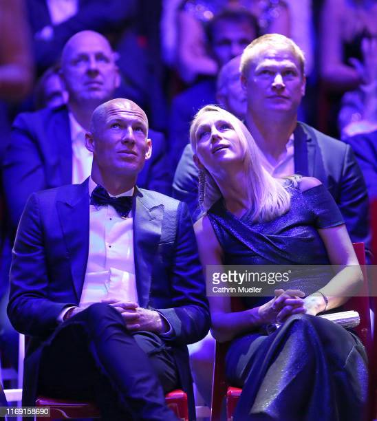 Arjen Robben and his wife Bernadien Eillert during the Sport Bild Award 2019 at the Fischauktionshalle on August 19 2019 in Hamburg Germany