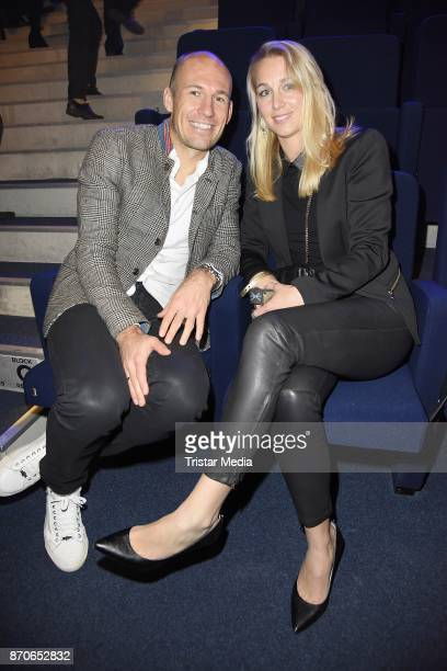 Arjen Robben and his wife Bernadien Robben during the world premiere of the horse show 'EQUILA' at Apassionata Showpalast Muenchen on November 5 2017...