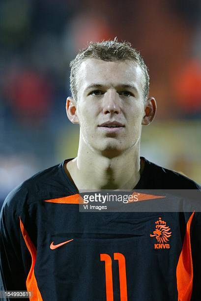 Arjen Robben during a International Friendly match between Germany U21 and Holland U21 on November 19, 2002 in Aachen, The Netherlands