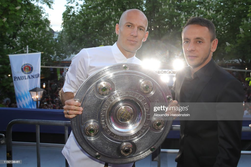 DEU: FC Bayern Muenchen Celebrates Winnning The Bundesliga