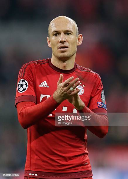 Arjen Robben of Bayern Munchen during the Champion League group F match between FC Bayern Munich and Arsenal FC on November 4 2015 at the Allianz...