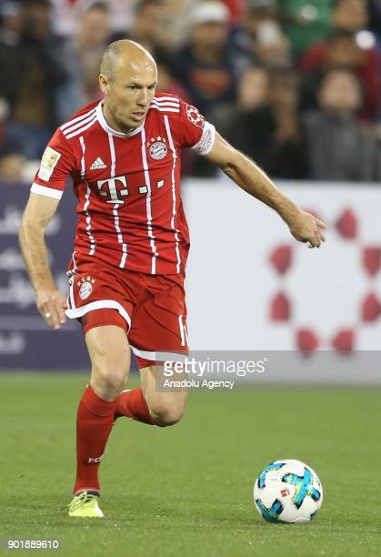 Arjen Robben of Bayern Munich in action during a friendly match between FC Bayern Munich and AlAhly at Aspire Academy on January 06 2018 in Doha Qatar