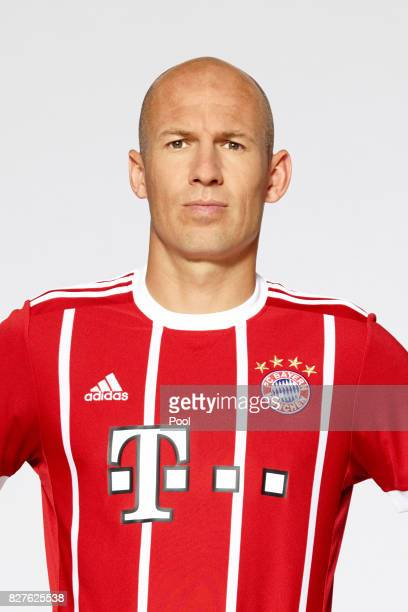 Arjen Robben of FC Bayern Muenchen poses during the team presentation at Allianz Arena on August 8 2017 in Munich Germany