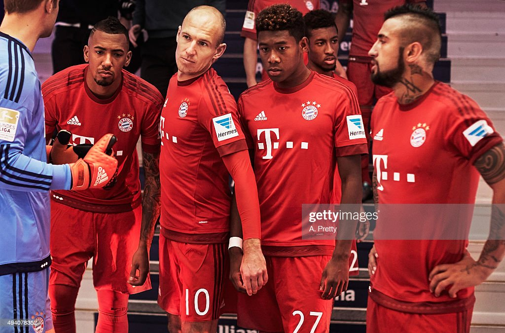 Arjen Robben of FC Bayern Munich looks focused in the tunnel before the Bundesliga match between FC Bayern Muenchen and 1. FC Koeln at Allianz Arena on October 24, 2015 in Munich, Germany.