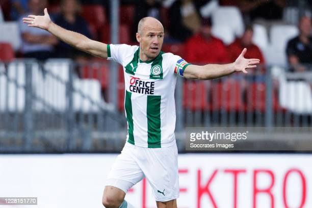 Arjen Robben of FC Groningen during the Club Friendly match between Almere City v FC Groningen at the Yanmar Stadium on August 22, 2020 in Alemere...