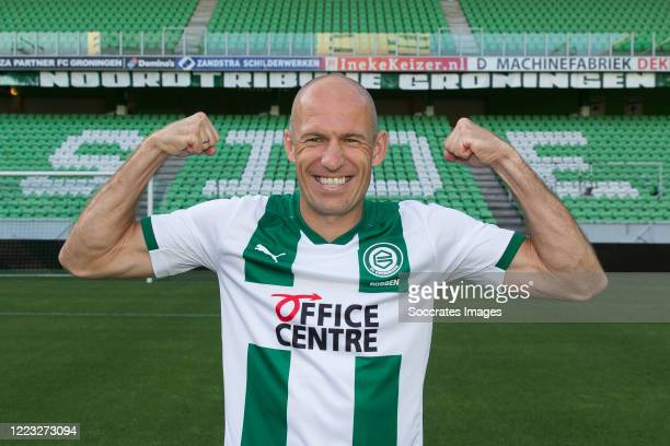 Arjen Robben of FC Groningen during the Contract signing Arjen Robben FC Groningen at the Hitachi capital mobility stadium on June 27, 2020 in...