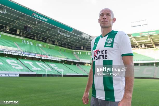 Arjen Robben of FC Groningen during the Contract signing Arjen Robben FC Groningen at the Hitachi capital mobility stadium on June 27 2020 in...