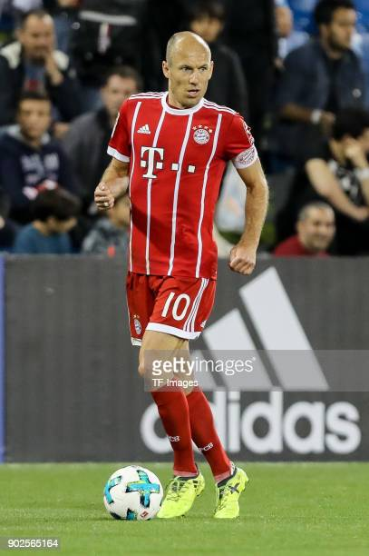 Arjen Robben of Muenchen controls the ball during the Friendly match between AlAhli and Bayern Muenchen at Aspire Academy on January 06 2018 in Doha...