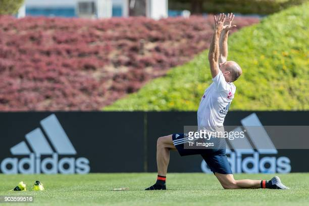 Arjen Robben of Muenchen in action during the FC Bayern Muenchen training camp at Aspire Academy on January 07 2018 in Doha Qatar