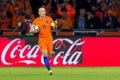 amsterdam netherlands arjen robben netherlands celebrates