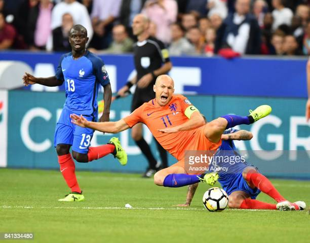 Arjen Robben of Netherlands in action during the FIFA World Cup 2018 qualifying Group A match between France and Netherlands at the Stade de France...