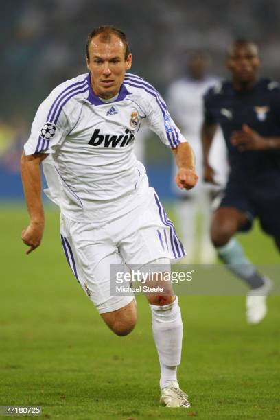 Arjen Robben of Real Madrid during the UEFA Champions League Group C match between Lazio and Real Madrid at the Olympic Stadium on October 3 2007 in...