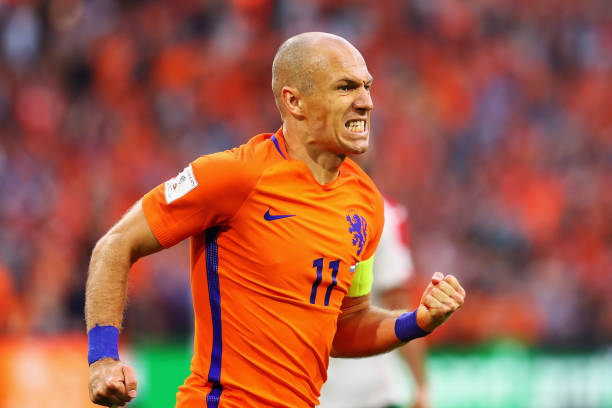 Arjen Robben scored the Netherlands' second goal against Bulgaria on Sunday. (Photo by Dean Mouhtaropoulos/Getty Images)